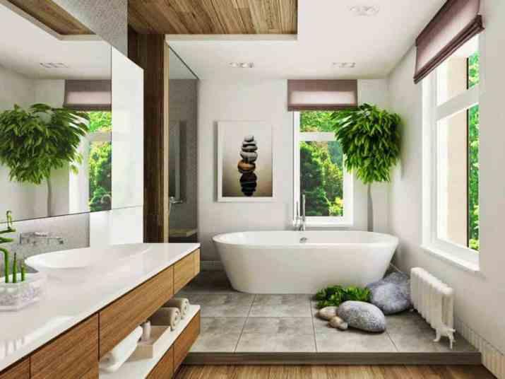 Dual Bathroom Ceiling Style