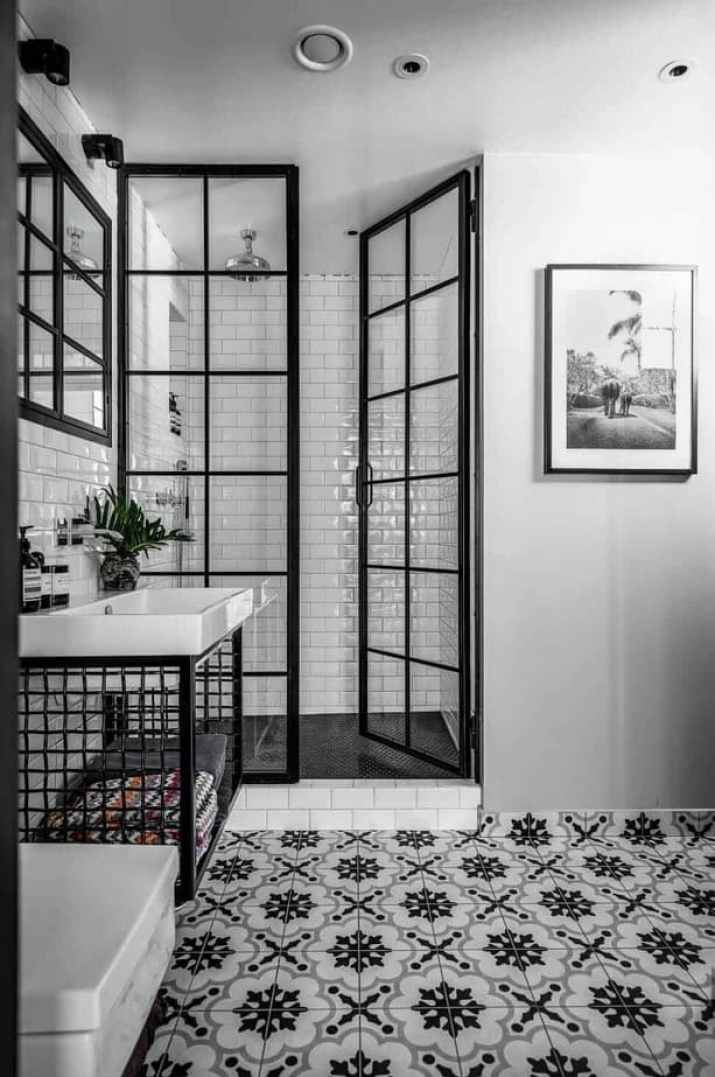 Trendy Mens Bathroom
