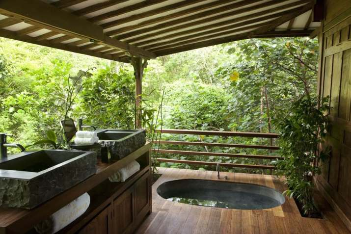 Traditional Ceiling for Outdoor Bathroom