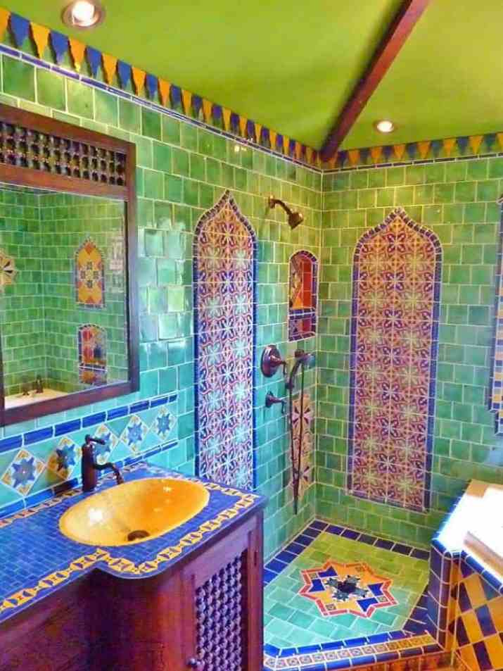 Moroccan Colorful Bathroom