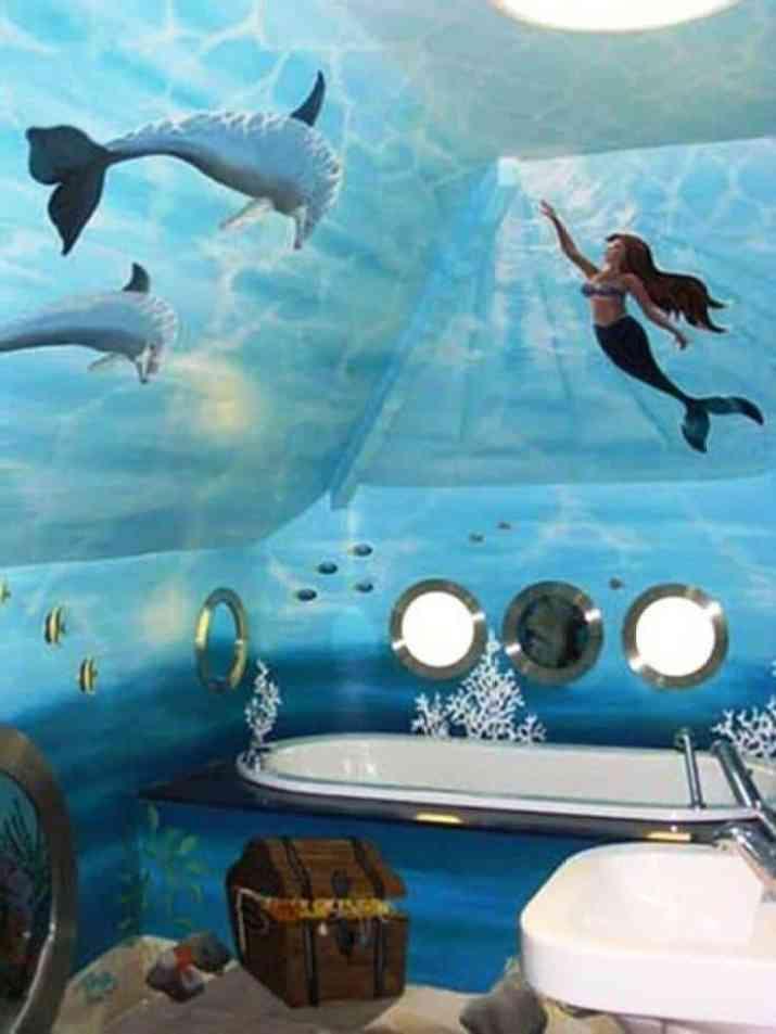 Remarkable Mermaid Bathroom