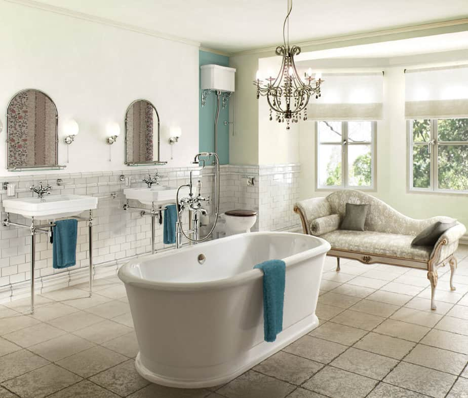 Restful French Country Bathroom