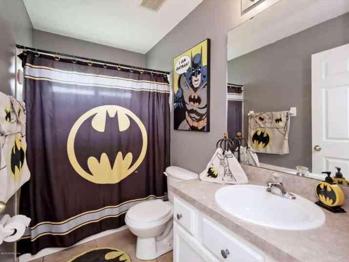 Batman Grey Bathroom