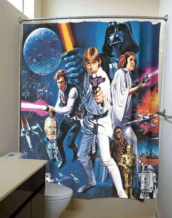 Star Wars Curtain for Modern Bathroom