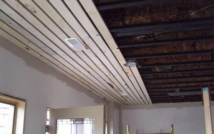 shabby chic Basement Ceiling Ideas Wood