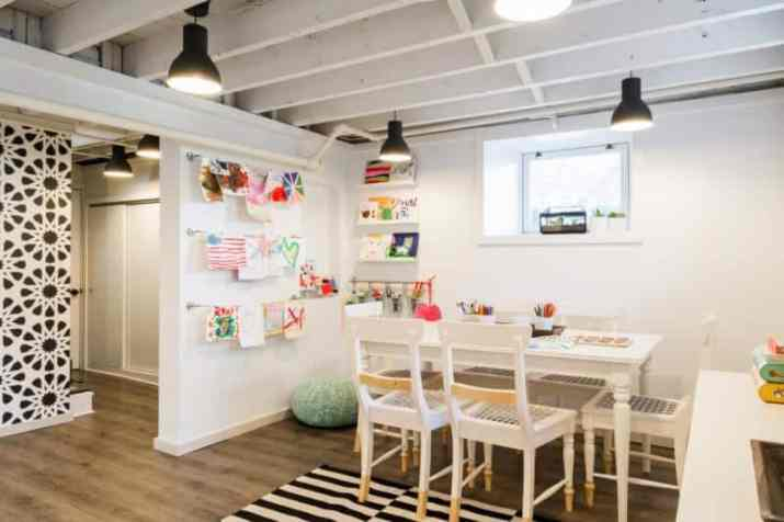 smaller Creative Basement Ceiling Ideas