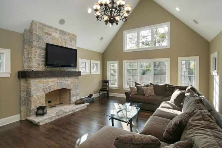 Fireplace with Vaulted Ceiling Ideas with fireplace