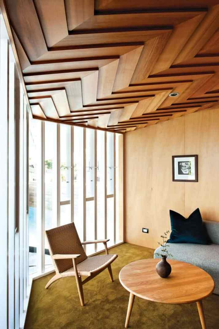Modern Wood Ceiling Ideas with light color
