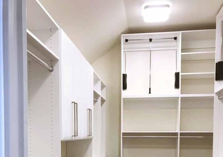 white Vaulted Ceiling Closet Ideas