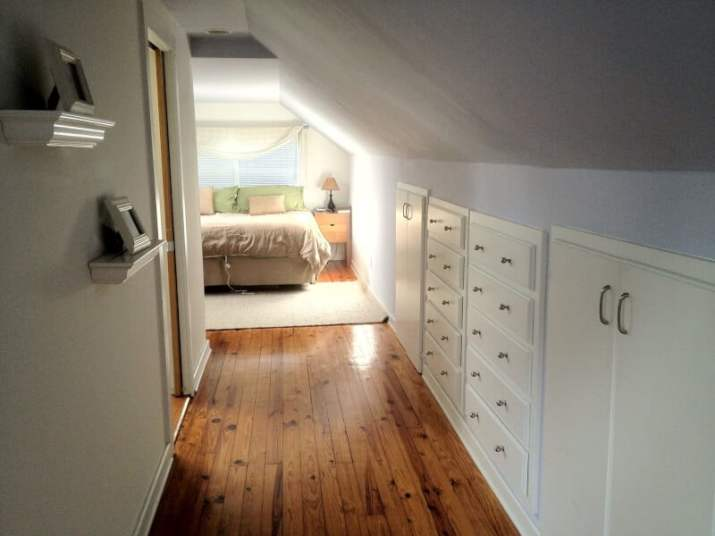short space for Vaulted Ceiling Closet Ideas