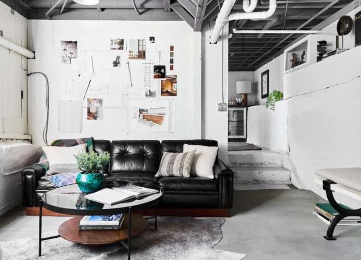 luxurious Industrial Basement Ceiling Ideas
