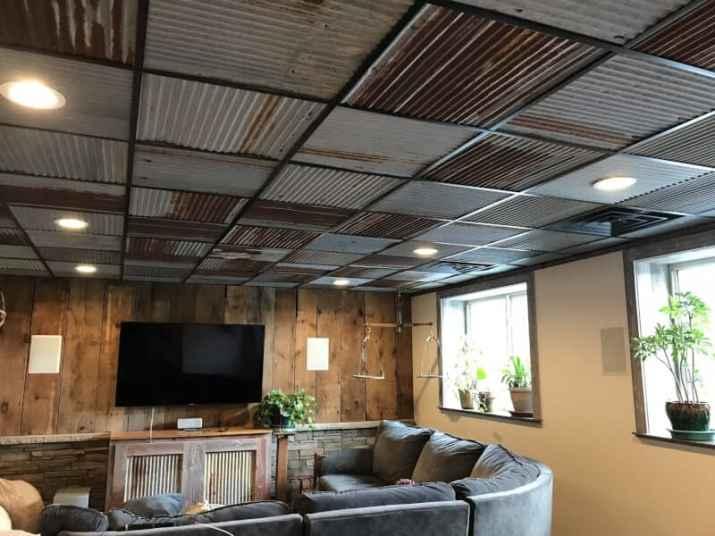 modern Basement Ceiling Ideas