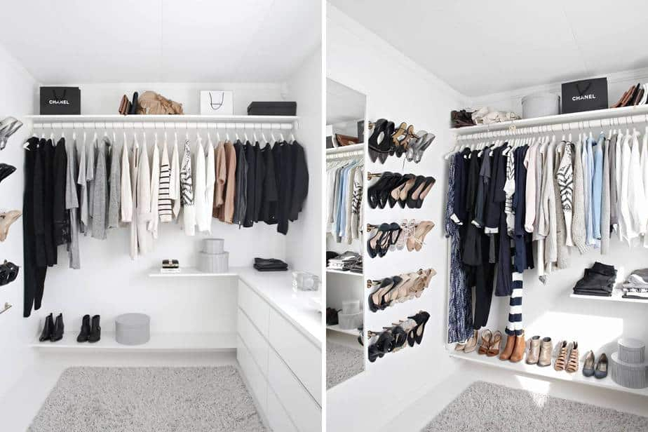 types of closet