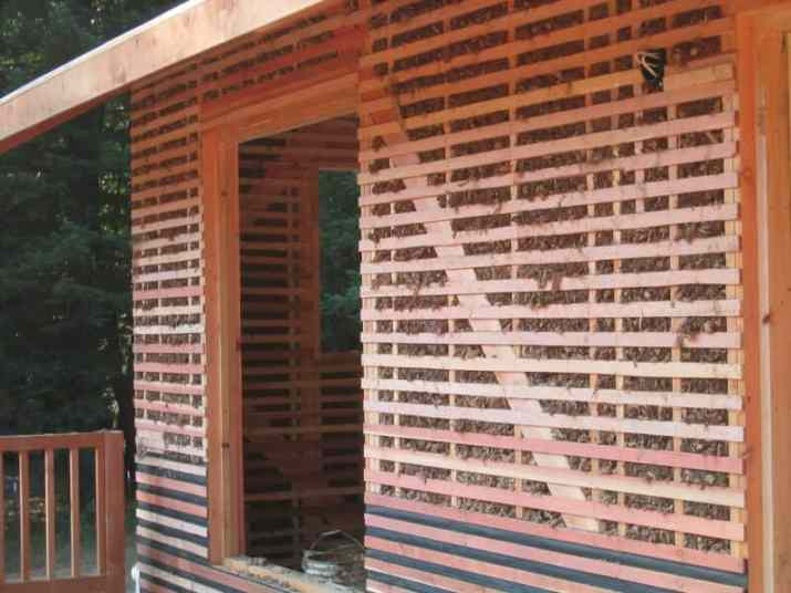 Lath with Woodchip-Clay