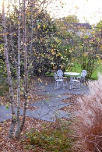 Bluestone Patio in Fall