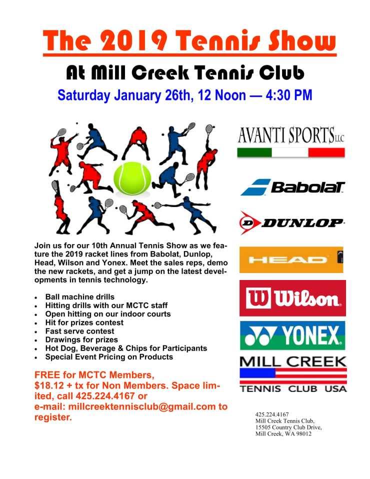 Tennis Show Flyer, 2019-1
