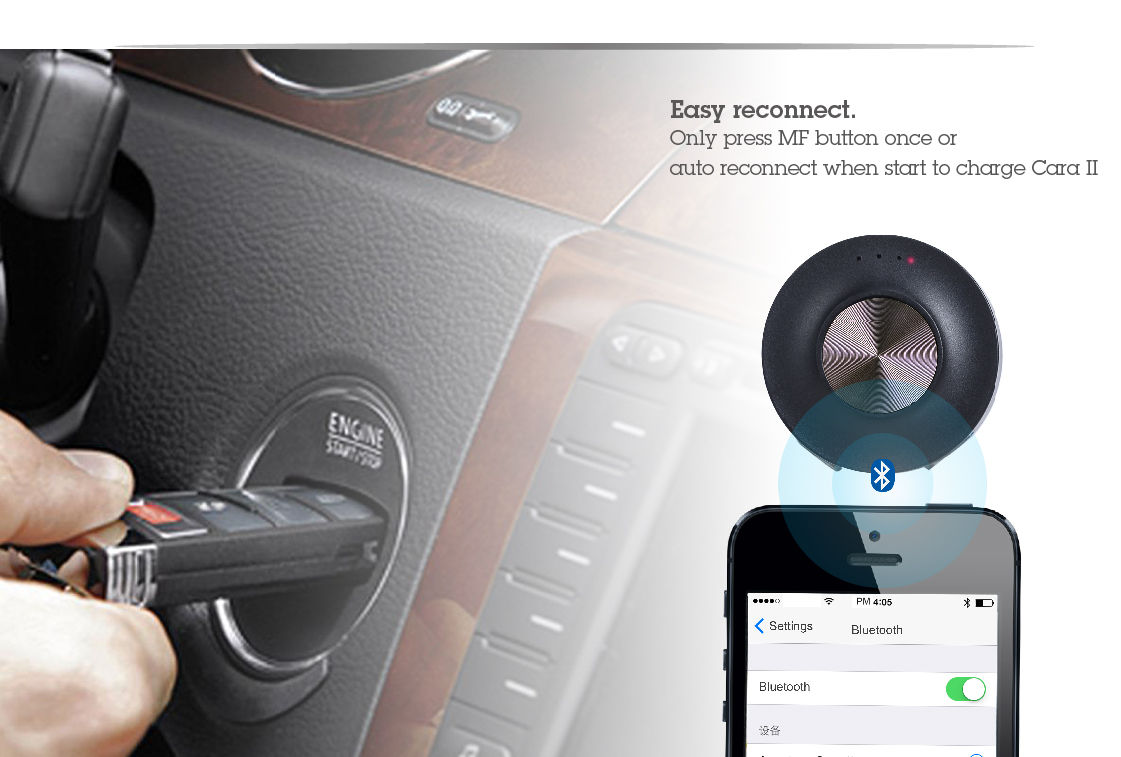car kit handsfree bluetooth Cara2