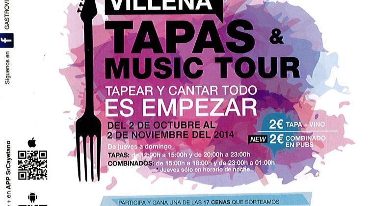 DeTapas por Villena con TAPAS & MUSIC TOUR (Del 2 de octubre al 2 de noviembre)