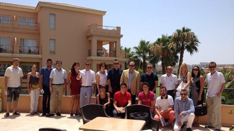 Cristina Massó y Rafael Balaguer en el curso de Ignacio Castillo en Alicante.