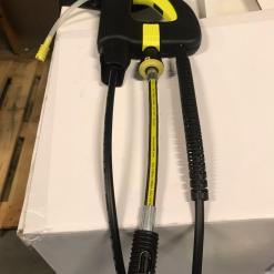 AVA hunslangekobling til Kärcher hanslangekobling brukt på AVA Teleskoplanse