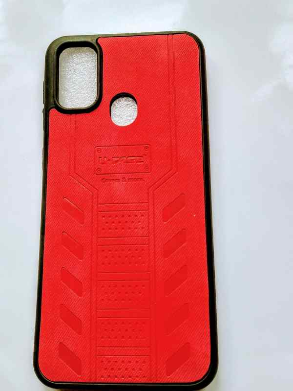 Samsung Galaxy M21/M30s Leather Cover Red Colour - Dark Red Cover