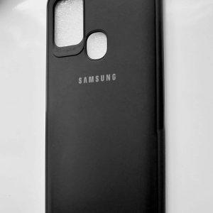 Samsung Galaxy A21s Leather Cover Diamond Black Colour - Diamond Black leather Cover