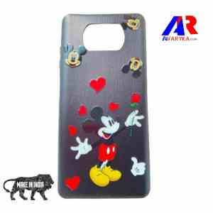 Best Poco X3 Back Cover - Buy Poco X3 Cover and Cases Online India - Premium High Quality Back Cover - Hello Kitty Back Cover (Black Colour)