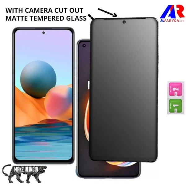 Redmi Note 10 Pro Matte Tempered Glass Screen Protector with Camera Cut Out (Gaming Edition)    Premium high quality Matte Tempered Glass for Redmi Note 10 Pro Gaming Edition