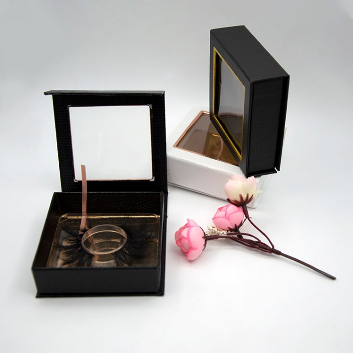 two black square lash boxes