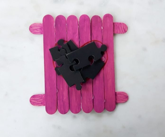 valentine's puzzle craft