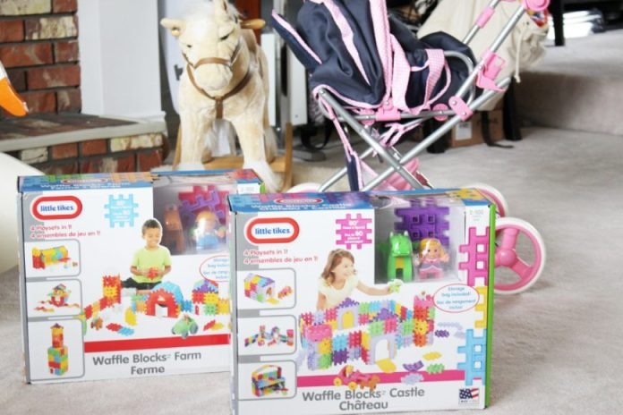 Little Tykes Waffle Blocks- If You Build It They Will Come! {Giveaway} 2
