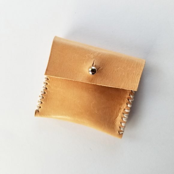 Custom Hand Crafted Genuine Leather Coin Pouch 2