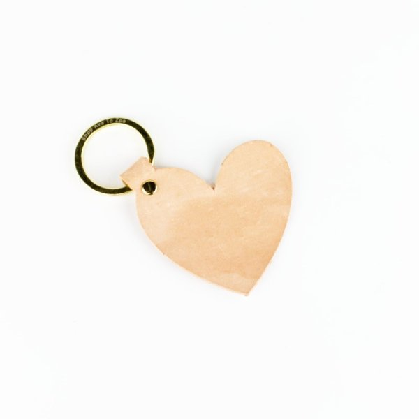 leather heart shaped keychain