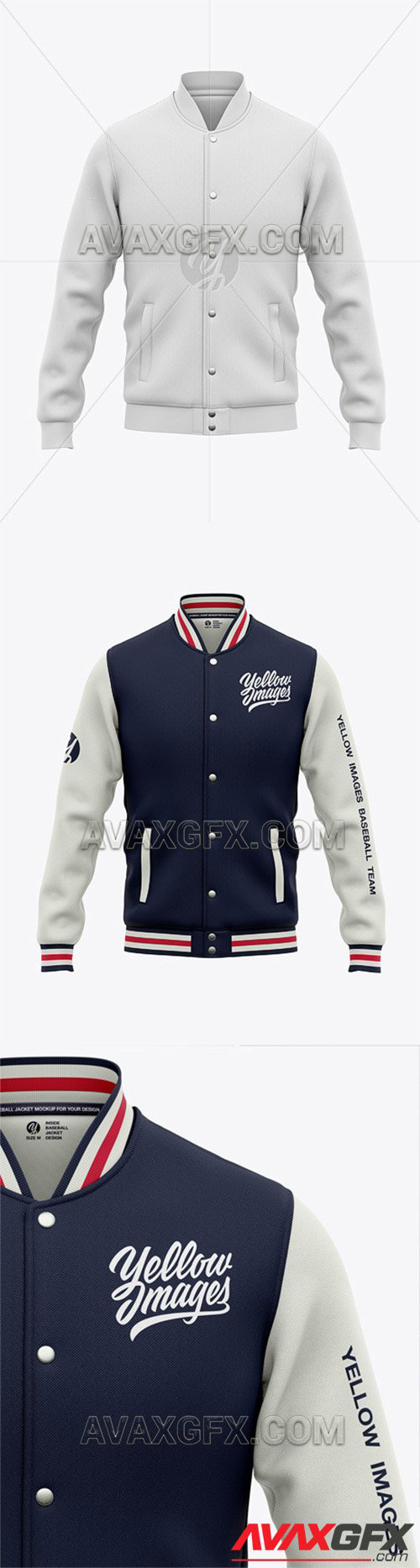 Baseball cap mockup free to present your design. Men S Zipped Bomber Jacket Mockup
