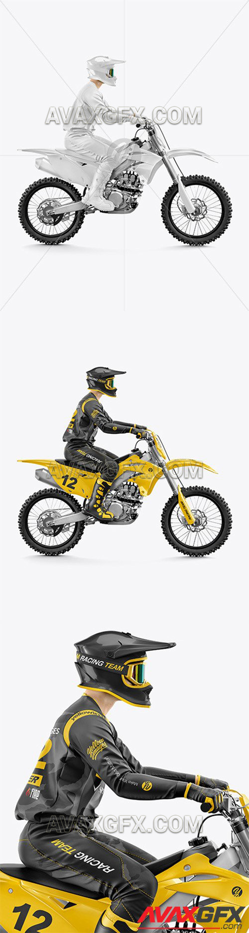 Download 35+ Motocross Racing Kit Mockup Images Yellowimages - Free ...