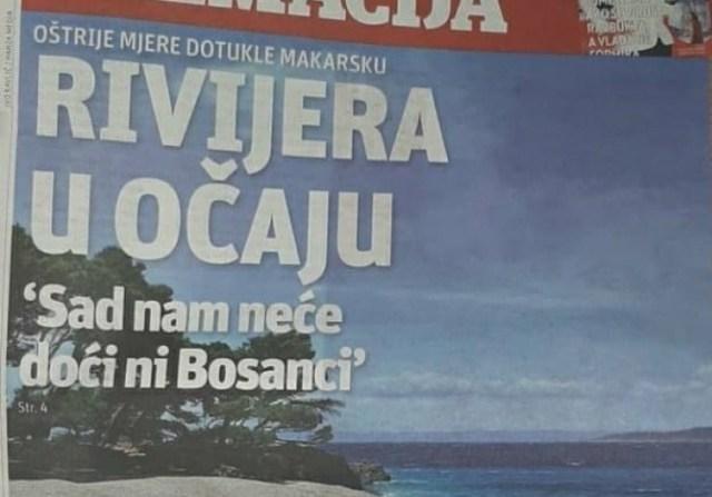 Naslovnica Slobodne Dalmacije - Avaz, Dnevni avaz, avaz.ba