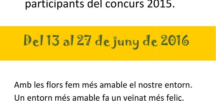 Exposicions Concurs de Façanes 2015