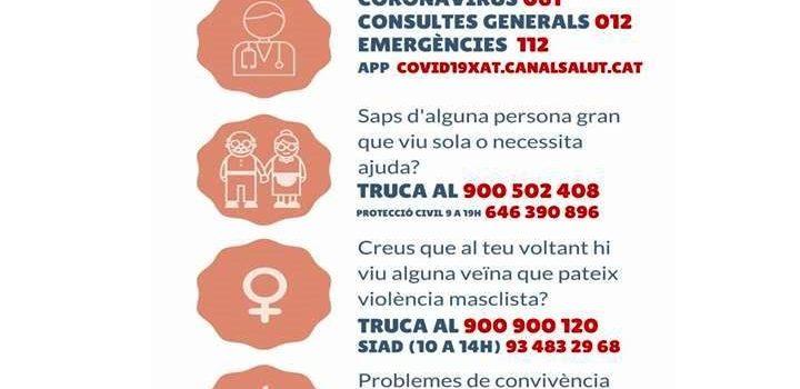 COMUNICAT DE LA QUARTA SETMANA DE CONFINAMENT