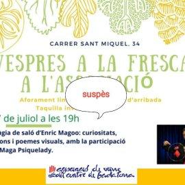 SUSPENSIÓ ACTIVITAT 7 DE JULIOL