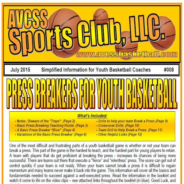 Press Breakers for Youth Basketball