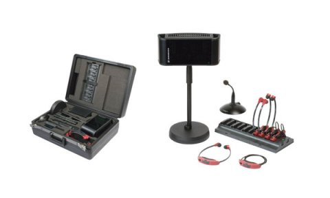 Sennhieser IR assisted hearing system