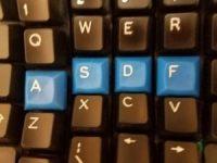 Photo of keyboard home row