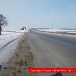 Трасса у развязки с М-22, уходящая в сторону Решетиловки