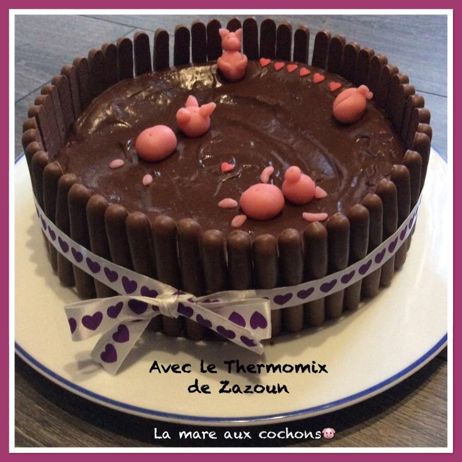 Fabuleux Gâteau » Mare aux cochons « – Avec le thermomix et le cookeo de zazoun UX87