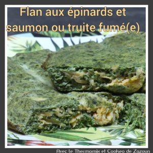 Flan aux épinards et saumon fumé