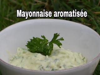 Mayonnaise aromatisée aux herbes au thermomix ( idéal pour le barbecue, les flans..)