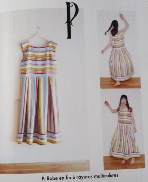 robe rayure 1 2 3 piquez tout droit