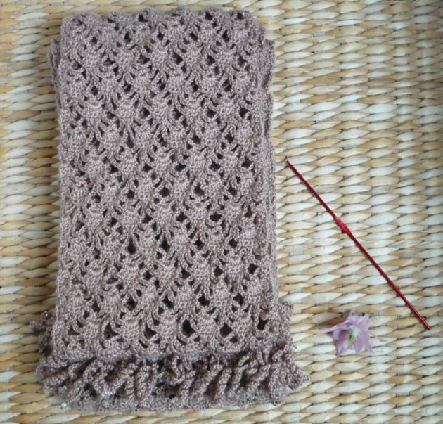 écharpe dentelle crochet 2 mètres