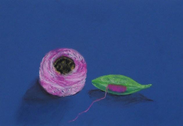 peinture pastel sec bobine navette sanzzo