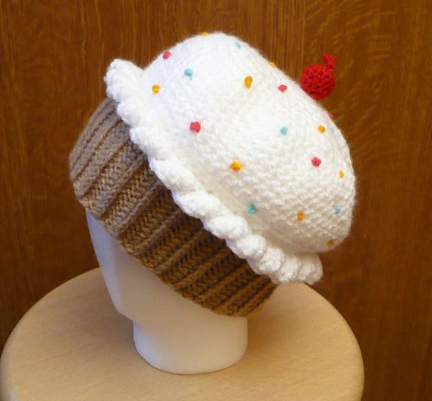 bonnet cupcake crochet DIY
